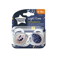 Baby products supplier of Tommee Tippee Closer to Nature Night Time Soother 6-18m 2Pk