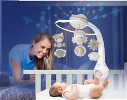 Baby products wholesaler of Infantino 3 in 1 Projector Musical Mobile Grey