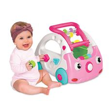 Baby products wholesaler of Infantino Sensory 3-in-1 Discovery Car Pink