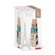 Baby products wholesaler of Janod Sophie La Girafe  Block Wooden Pyramid 5pc