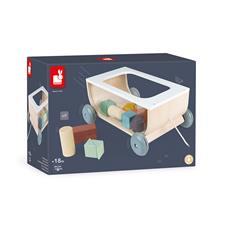 Baby products wholesaler of Janod Sweet Cocoon Cart With Blocks