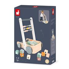 Baby products wholesaler of Janod Sweet Cocoon Cart with ABC blocks