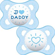 Baby products wholesaler of MAM Style (I Love) Soother 0m+ 2Pk
