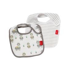 Baby products wholesaler of Nuby Muslin Snug n Dry Bib 2Pk
