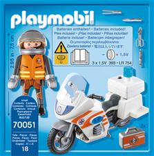 Baby products wholesaler of Playmobil City Life Emergency Motorbike