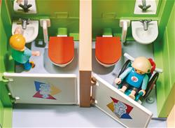 Baby products wholesaler of Playmobil City Life Furnished School Building with Digital Clock