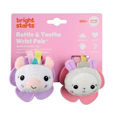 Bright Starts Wrist Rattle Teether - Unicorn & Llama