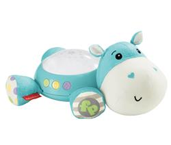 Hippo Plush Projection Soother Side