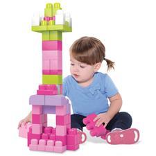 Mega Bloks Big Building Bag 60pcs Pink Bag