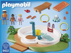 UK distributor of Playmobil Swimming Pool with Functioning Shower and Floating Raft