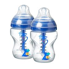 Tommee Tippee Advanced Anti-Colic Bottles Decorated 260ml 2Pk