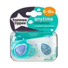 Tommee Tippee Closer to Nature Anytime Soother Blue 6-18m 2Pk