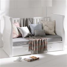 East Coast Alaska White Sleigh Cot Bed