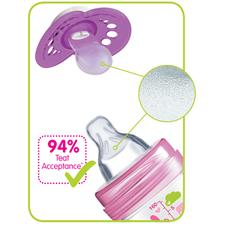 Baby products supplier of MAM Original Night Soother Pink 0m+ 2Pk