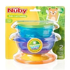 Baby products supplier of Nuby Stackable Suction Bowls 2Pk