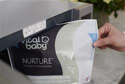 Baby products supplier of Vital Baby NURTURE Microwave Sterilising Bags 5Pk