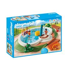 UK wholesaler of Playmobil Swimming Pool with Functioning Shower and Floating Raft