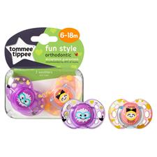 Tommee Tippee Closer to Nature Fun Air Soother 6-18m 2Pk