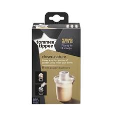 UK distributor of Tommee Tippee Closer to Nature Milk Powder Dispensers 6Pk