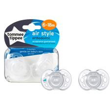 Baby products distributor of Tommee Tippee Closer to Nature Air Style Soothers 6-18m 2Pk