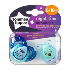 Tommee Tippee Closer to Nature Night Time Soother 6-18m 2Pk