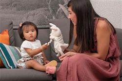 UK distributor of Kaloo Kachoo Plush Puppet Robin Rabbit