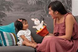 UK distributor of Kaloo Kachoo Surprise Puppet Robin Rabbit