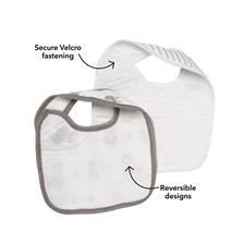 UK distributor of Nuby Muslin Snug n Dry Bib 2Pk