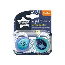 Baby products wholesaler of Tommee Tippee Closer to Nature Night Time Soother 6-18m 2Pk