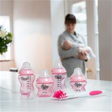 Tommee Tippee Closer to Nature Bottle Starter Kit Pink