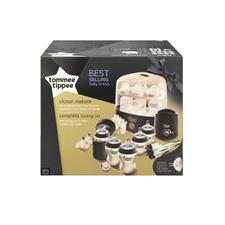Tommee Tippee Closer to Nature Complete Feeding Set Black