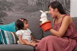 UK wholesaler of Kaloo Kachoo Surprise Puppet Robin Rabbit