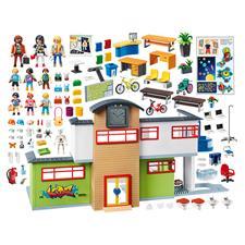 UK wholesaler of Playmobil City Life Furnished School Building with Digital Clock