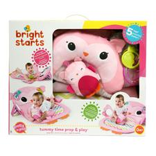 UK supplier of Bright Starts Tummy Time Prop and Play Owl