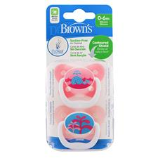 Supplier of Dr Brown's PreVent Soother Pink 0-6m 2Pk
