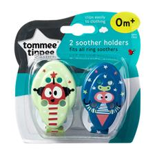 Tommee Tippee Closer to Nature Soother Holder 2Pk