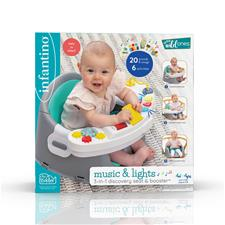 UK supplier of Infantino Music & Lights 3-in-1 Discovery Seat & Booster