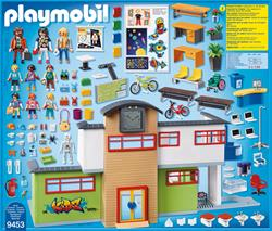 UK supplier of Playmobil City Life Furnished School Building with Digital Clock