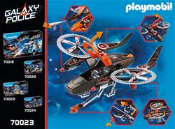 UK supplier of Playmobil Galaxy Police Space Pirates Helicopter