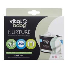 UK supplier of Vital Baby NURTURE Microwave Sterilising Bags 5Pk