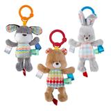Bright Starts Taggies Attachable Plush Toy with Chime