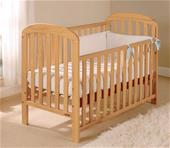 East Coast Anna Drop Side Cot - Antique