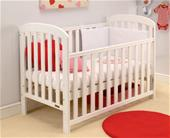 East Coast Anna Drop Side Cot - White