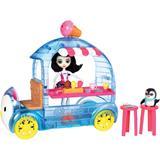 Enchantimals Treats Ice Van with Preena Penguin Doll & Pet