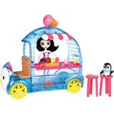 Enchantimals Treats Ice Van with Preena Penguin Doll & Pet