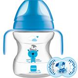 MAM Learn to Drink Cup Blue 190ml with Handles and Soother