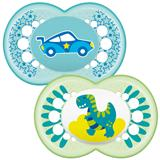 MAM Original Soother Blue 12m+ 2Pk