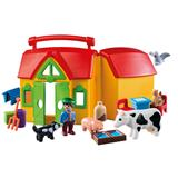 Playmobil 1.2.3 Take Along Farm with Sorting Function