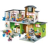Playmobil City Life Furnished School Building with Digital Clock