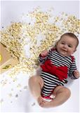 Rockabye Baby Red Bow Stripe Long Sleeve Bodysuit 3-6m